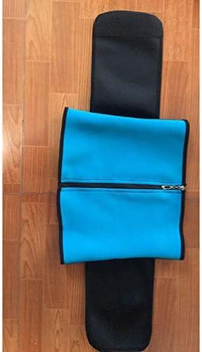 HEALLILY Neoprene Sweat Waist Trainer Yoga Sauna Corset Trimmer Belt Cincher Body Shaper Slimmer for Women Weight Loss Waist Blue (Size L) 4
