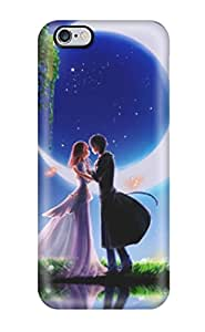 Awesome Design Animated Boy And Girl Romantic Couple Hard Case Cover For Iphone 6 Plus