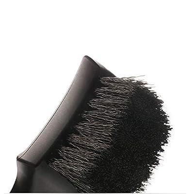2 Pack Tire Brush, Black Stiff Bristle Wheel Cleaning Brush, Car Carpet Brush, Detail Brush: Automotive