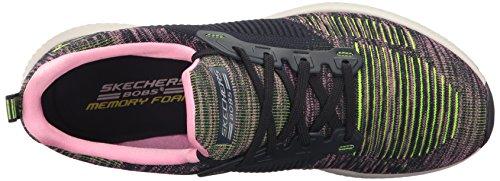 Chaussures à Squad Classique Schwarz Coupe Skechers Schwarz Femme Lacets Bobs et qwCEOAE