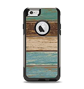 The Wooden Planks with Chipped Green and Brown Paint Apple iPhone 6 Otterbox Commuter Case Skin Set (Skin Only)