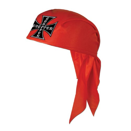 Chopper Scarf Hat (red), 12 Hats Per Package