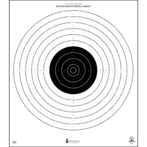 NRA 25/50 METER UIT TARGET 100 PACK by Law Enforcement
