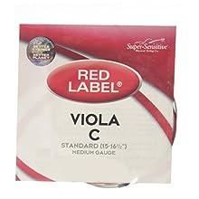 Super Sensitive Red Label 4147 Viola C String, Standard