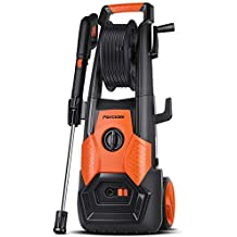 PAXCESS Electric Pressure Washer, 2150 PSI 1.85 GPM Electric Power Washer with Spray Gun, Adjustable Nozzle,26ft High Pressure Hose, Hose Reel (Renewed)