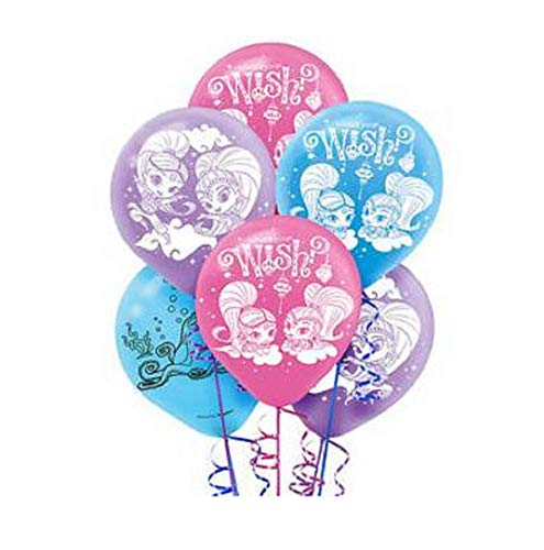 WISH GIRLS SHIMMER & SHINE PARTY BALLOONS MIXED ASSORTMENT OF PINK, PURPLE, & BLUE (12PCS) ()