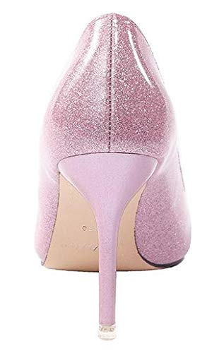 Pumps Pink Renly On Work Womens Stiletto Party Slip Dress Leather PU Shoes wZ1wn