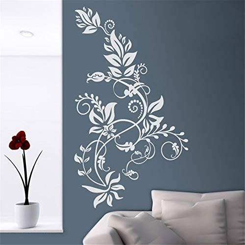 Emeas Decor Stickers Walls Art Words Sayings Removable Lettering Floral Tarai.Ideal Living Rooms, Bedrooms Or Hallways Decals Vertical Floral Hot
