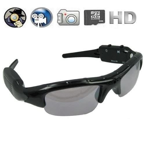 Generic Pinhole Hidden Video Recorder DVR Sunglasses Camera w Micro SD Slot Expandable to 16gb