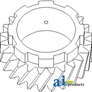 A&I Products Gear, Pinion Shaft (4th) (SN 13291>) Replacement for Allis Cha...