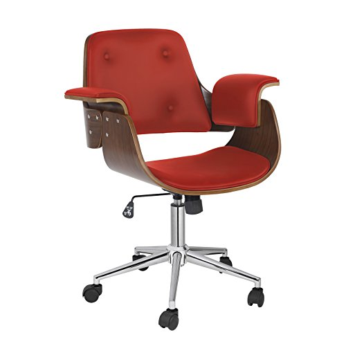 Porthos Home Orion Adjustable Office Chair, Red