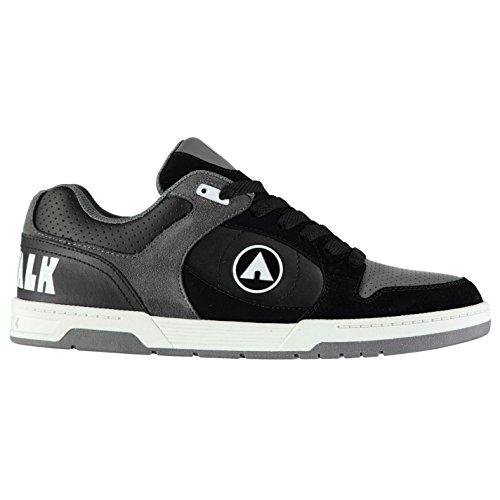 Airwalk Mens Throttle Skate Shoes Lace Up Black/Grey UK 11 (45)