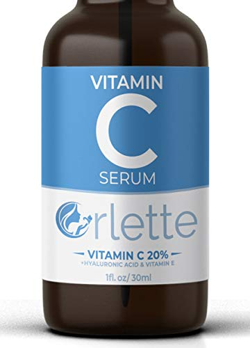 41iijqxf5xL - Orlette Vitamin C Serum For Face - With Hyaluronic Acid & Vit E - Skin Treatment Formula - Natural Anti Aging Moisturizer, Facial Acne Removal - Wrinkles, Dark Circles, Scar, Pore Minimizer, Reducer
