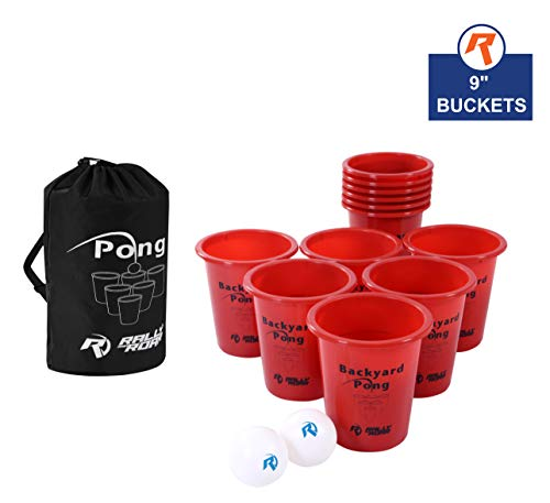 for Outdoors - Fun Drinking Games for Adults, College Kids - Jumbo Cup and Pong Throwing Game for Yard, Party, Bar, Lawn, Backyard, Tailgating - Fun Outside Games ()
