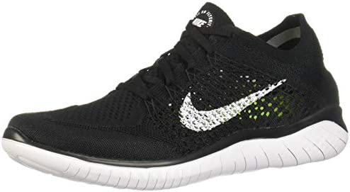 Nike Men's Free Rn Flyknit 2018 BlackWhite Running Shoe 8