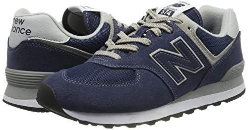 New Balance Men's 574 V2 Evergreen Sneaker, Black Iris/Black Iris, 7 M US