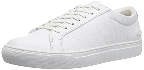 Lacoste Men's L.12.12 Sneakers,White/White Leather,9 M US (White Sneakers Lacoste)