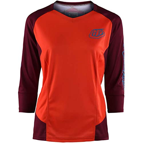 Troy Lee Designs Ruckus 3/4 Solid Women's Off-Road BMX Cycling Jersey - Orange/Small ()