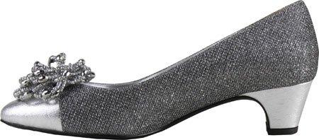 J.renee Womens Rashana Argento Tessuto Glitter Arlecchino / Nappa Metallizzata