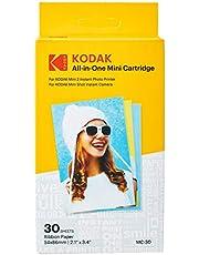 Kodak Photo Print Mini Mc Cartridge–Cartridge Printer, Ink Paper Pack of 20–Compatible Camera Mini Shot All-in-One Mini 2, Yellow