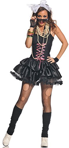 Underwraps Costumes Women's Totally Awesome 80's Costume, Black/Pink/White, Medium