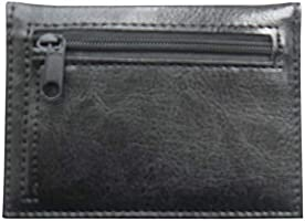 Lorenz Leather Effect Grained PU Bus Pass Cover Holder with Zip up Coin Pocket Black