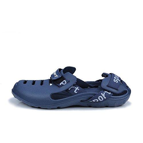 Xing Lin Beach Flip Flop Pantofole Uomini Estate Nuove Scarpe Da Spiaggia Trafitto Foro Traspirante Scarpe Sandali Scarpe Marea Trascinare blue