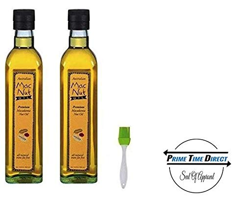 (MacNut Oil Macadamia Nut Oil 8.5 oz (Pack of 2) in a Prime Time Direct Sealed Bag)