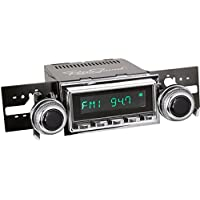 RetroSound M2BC-127-53-73 Model Two Direct-Fit Radio for Classic Vehicles (Black Face/Chrome Buttons and Chrome Bezel)