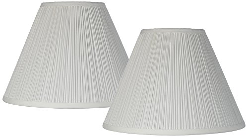 Antique White Set of 2 Lamp Shades 6.5x15x11 (Spider) by Brentwood