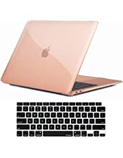 ProCase MacBook Air 13 Inch Case 2020 2019 2018 Release A2337 M1 A2179 A1932, Hard Case Shell Cover for MacBook Air 13-inch Model A2237 A2179 A1932 with Keyboard Skin Cover -Crystal