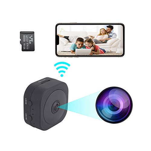 Hidden Camera,iTecFree WiFi Camera with Night Vision Wireless Camera with Audio and Video 1080P HD Mini Camera Motion Detection Nanny Cam Built-in Battery Security Home Cop Cam + 16GB TF Card