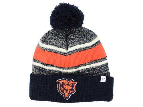 Chicago Bears Knit Cuff Beanie W / Pom NFL Authentic 1つサイズ帽子キャップ – ネイビーブルー&オレンジOSFA   B01BMURSB0