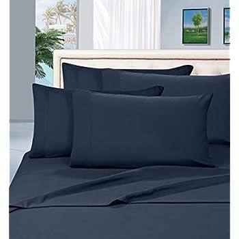 Thread Spread True Luxury 100% Egyptian Cotton - Genuine 1000 Thread Count 4 Piece Sheet Set- Color Navy,Size King - Fits Mattress Upto 18'' Deep Pocket