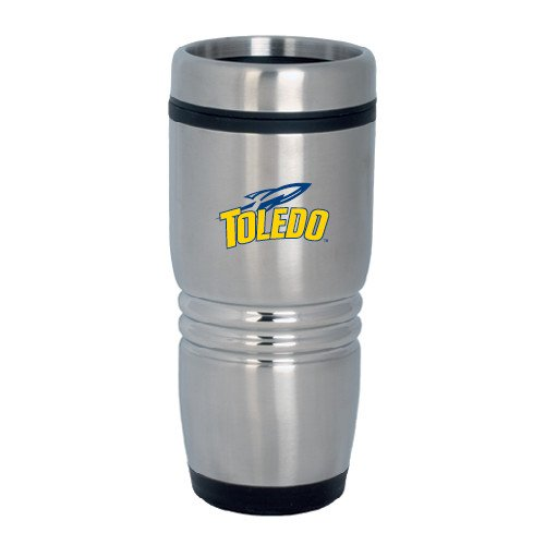 Toledo Rolling Ridges Silver Stainless Tumbler 16oz 'Official Logo' by CollegeFanGear