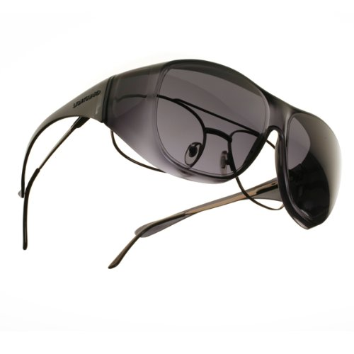 LightGuard Fits-Over Sunglasses - LightGuard (Large) / Frame: Frosted Smoke Lens: - Lightguard Sunglasses
