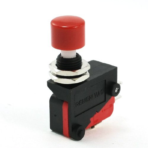 AC 250V SPDT 3P Momentary Red Push Button Miniature Micro Limit Switch