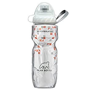 Polar Bottle Insulated Zipstream Water Bottle - 20oz, BreakAway Orange