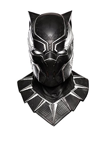 Adult Rubies Mask - Rubie's Costume Co Captain America: Civil War Panther Overhead Latex Mask, Black, One Size