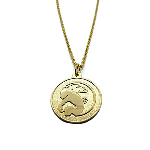 (Damian Black RWBY Sun Wukong Coin Pendant Necklace Cosplay Accessory (Necklace on Gold Chain))