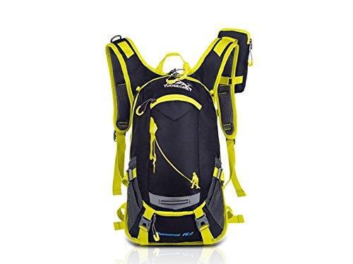 OVIIVO Bike 18L Hydration Pack Backpack Waterproof Breathable Bike Backpack Rucksack for Biking Cycling Travel Hiking (Yellow) by OVIIVO