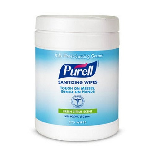 Purell Sanitizing Wipes 270 Count 6 x 6.75 inches Case of 6
