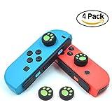 Nintendo Switch Pro/Joy-Con カバー 4点セット iitrust スイッチ アナログスティック カバー コントローラー用 サムスティック 可愛い 猫手 肉球 五色選択 PS4/PS3/PS2/XBOX ONE/XBO/X360対応可能 グリーン