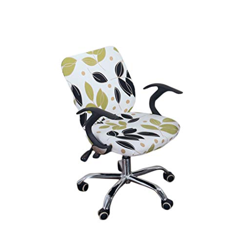 Drew Toby Chair Covers Office Stretch Cotton Fabric Computer Slipcover Flower Printed Removable Washable Rotating seat Cover