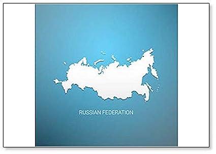 Amazon.com: Russian Federation Map - Classic Fridge Magnet: Kitchen ...