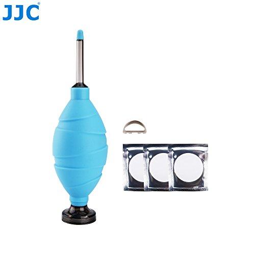 JJC CL-DF1DSB Professional Dust-Free Filter Rubber Air Blower Pump Cleaner for DSLR Camera CMOS Sensor Lens LCD Keyboard Laptop Digital Gadgets / Sky Blue