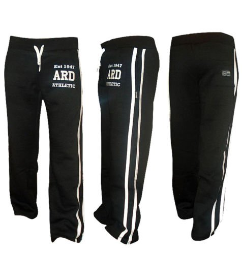 ARD-Champs Men's Fleece Jogger Pant Sweatpant Track Suit Bottom Jogging Exercise Fitness Boxing MMA Gym Sweat Cotton Fleece Trousers (Black, Xl)
