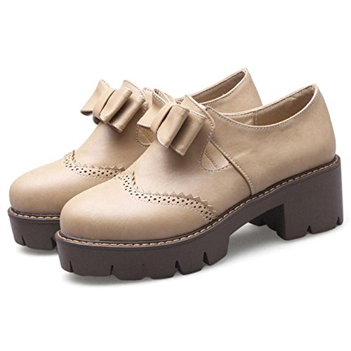 Platform Women's Shoes Apricot Spring TAOFFEN n6AUg7qn