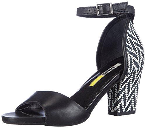 Manas Bellaria - Sandalias de tobillo Mujer Negro - Schwarz (NERO+NERO)