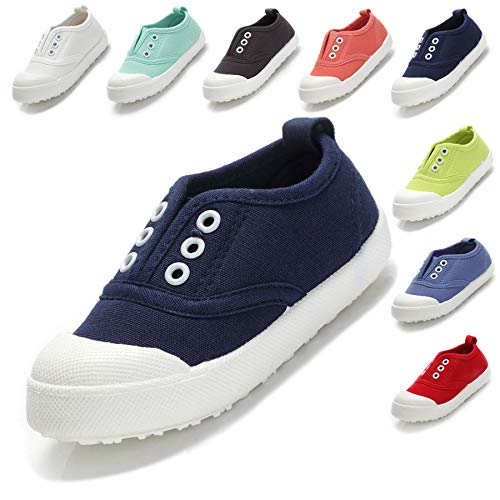 Kikiz Candy Color Kids Little Canvas Sneaker Boys Girls Casual Shoes Blue 13 M US Little Kid
